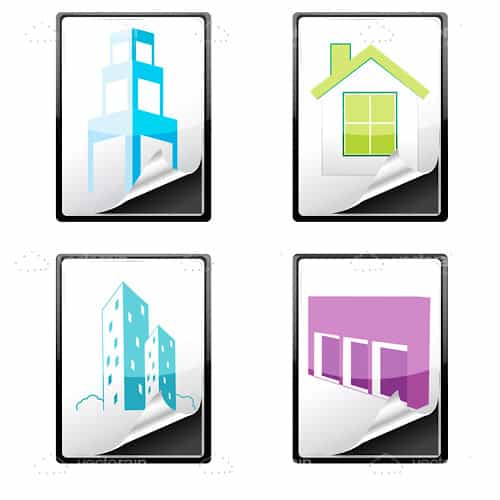 Construction and Architecture Icons with Different Structures