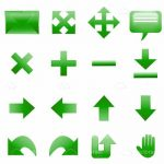 Multidirectional Icons in Green