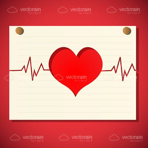 Abstract Heart and Cardiogram Background