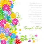 Multicolor Abstract Flowers Background with Sample Text