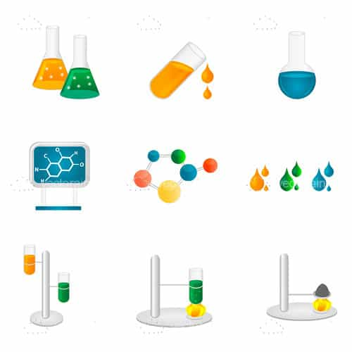 Laboratory and Science Icon Set