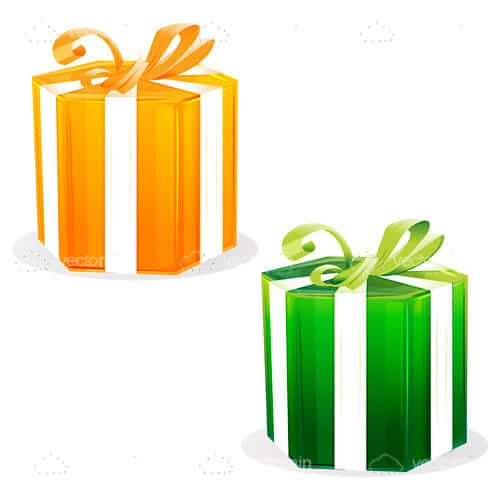 Orange and green gift boxes vectorjunky free vectors icons orange and green gift boxes negle