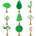 Abstract Trees Icon Set