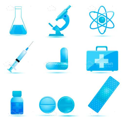 Medicine and Science Icon Set