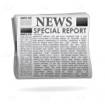 Special Report Newspaper with Sample Text