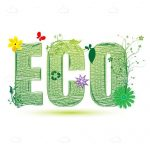 ECO logo Design with Floral Decorations