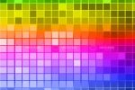 Abstract Coloured Squares Background