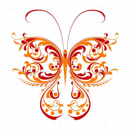 abstract floral butterfly design vectorjunky free