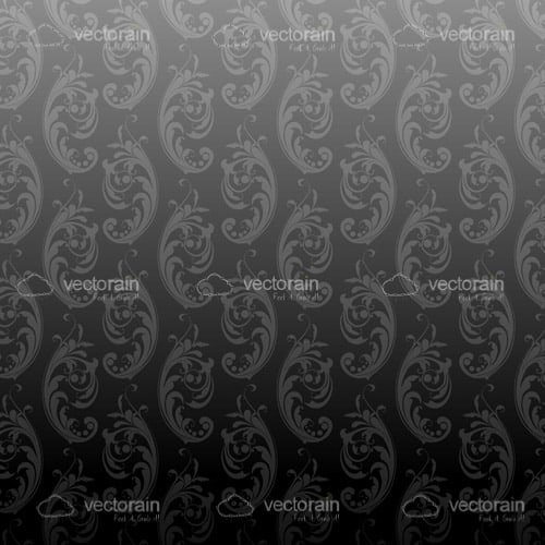 Elegant Floral Background in Grey Tones