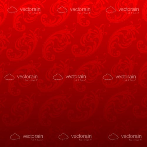 Red Floral Vector Background