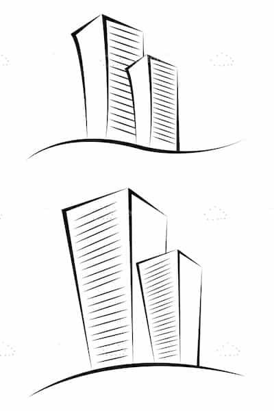 building sketches vectorjunky free vectors icons logos and more