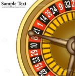 Golden Casino Roulette Wheel with Sample Text