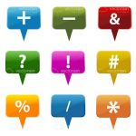 Colorful Dialogue Bubbles Icon Set