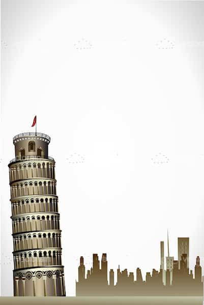 Leaning Tower of Pisa Landscape