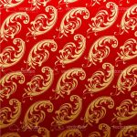 Abstract Red and Gold Floral Background