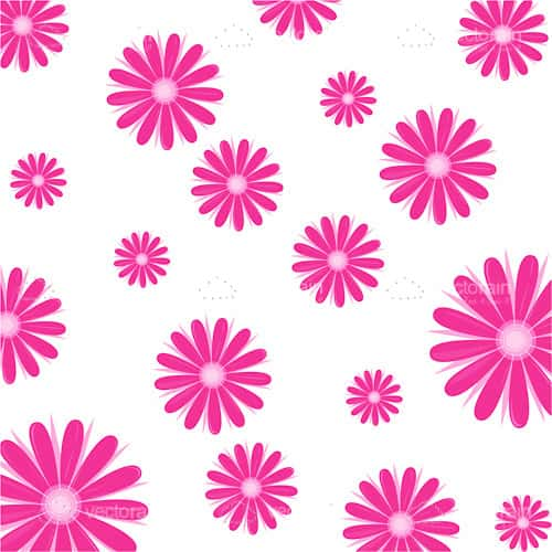 Decorative Floral Background Print