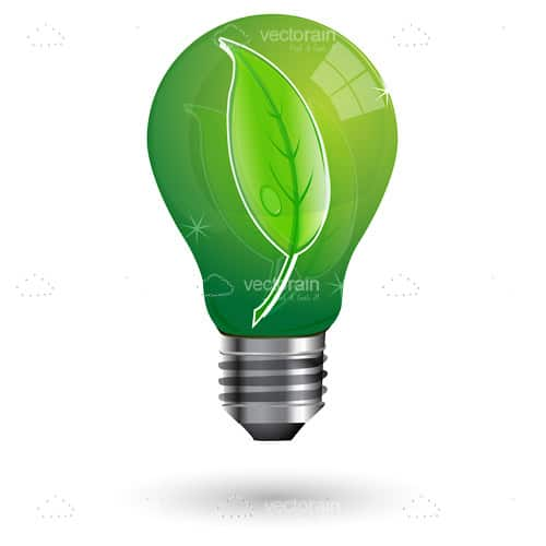 Eco Friendly Green Light Bulb Awesome Design
