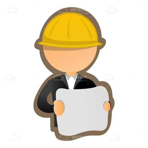 Abstract Engineer or Construction Worker Icon