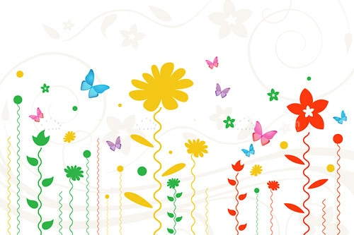 Multicolor Floral Background