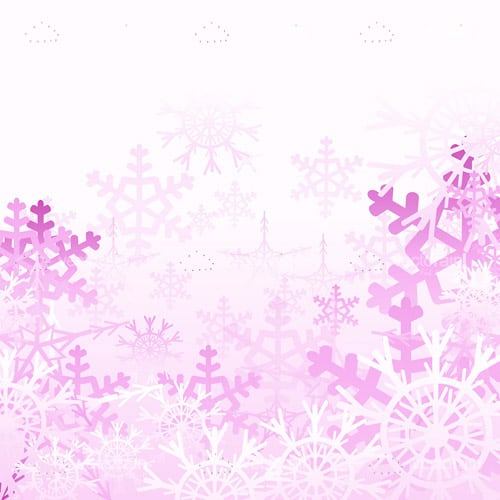 Purple Snowflakes Background