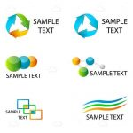 Recycling and Multipurpose Icons with Sample Text
