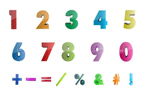Colourful Math Character Pack