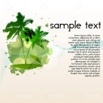Green Palm Tree Island with Sample Text