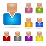 Colourful Abstract People Icon Pack