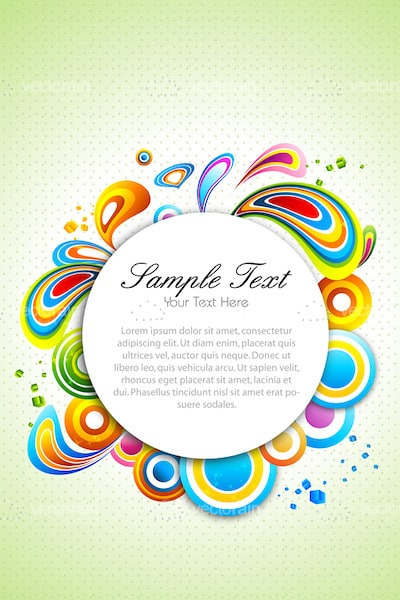 Abstract Colourful Vector Background with Sample Text