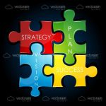 Business Plan Coloured Jigsaw Peices