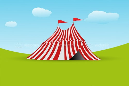 Typical Circus Tent on Landscape