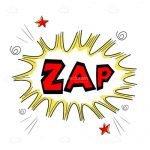 Illustrated Cartoon Zap Text