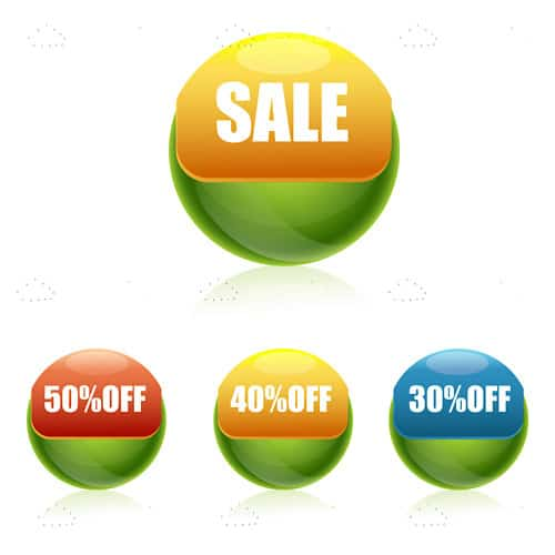 Sale and discount buttons