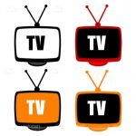 Vintage Tv Icon Set