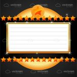 Abstract Certificate with Stars