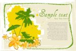 Beach View Card with Sample Text