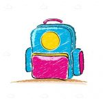 Illustrated Cartoon School Bag