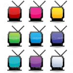 Colourful Pixel Televisions Icon Pack