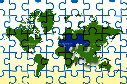 Global map jigsaw puzzle vectorjunky free vectors icons logos global map jigsaw puzzle gumiabroncs Gallery