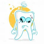 Sad Illustrated Tooth