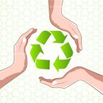 Hands Surrounding Recycle Icon