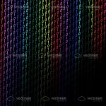 Colorful Binary Code Background