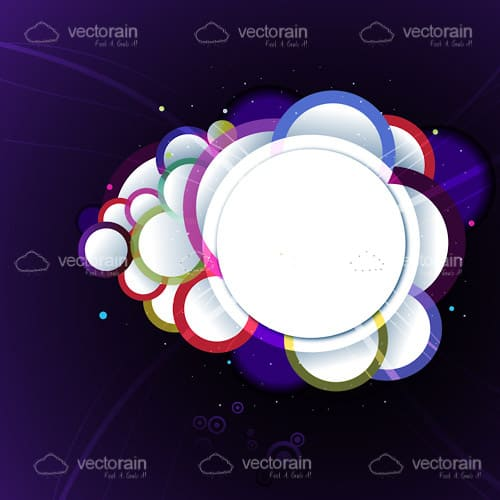 Multicoloured Circle Background