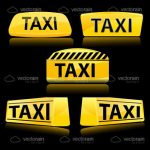 Taxi Signs Icons Set