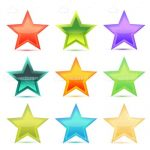 Multiple Coloured Stars Icon Pack