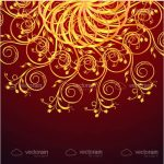 Abstract Orange Floral Background
