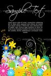 Multicolor Floral Background with Sample Text