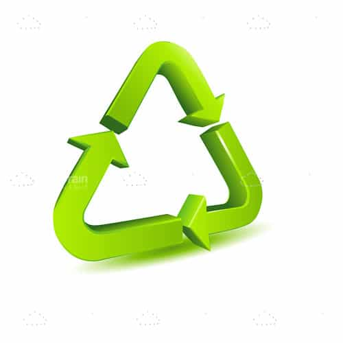 Green Arrows Recycle Icon