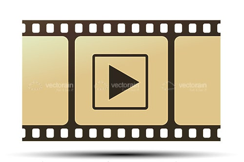 Movie Reel with Play Icon