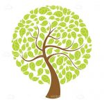 Abstract Circuler Tree Illustration